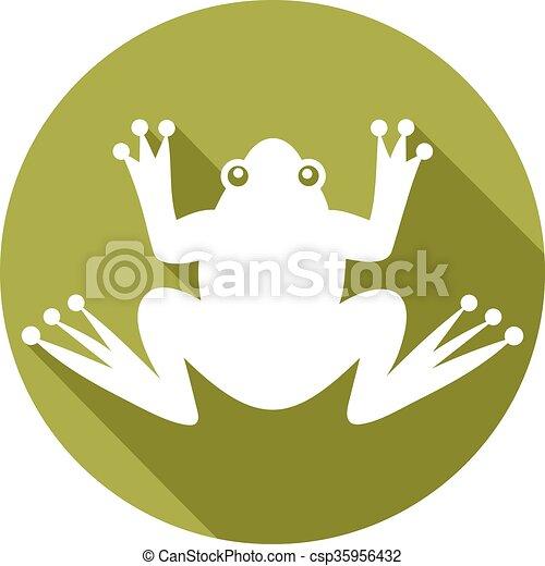 frog flat icon - csp35956432