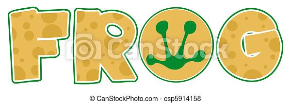 Frog Font Text  - csp5914158