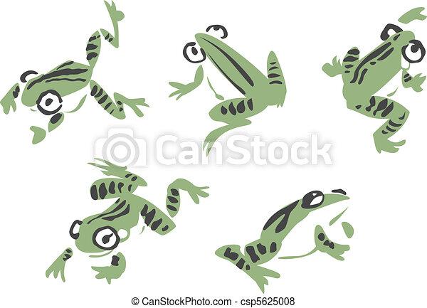 frog illustration  - csp5625008