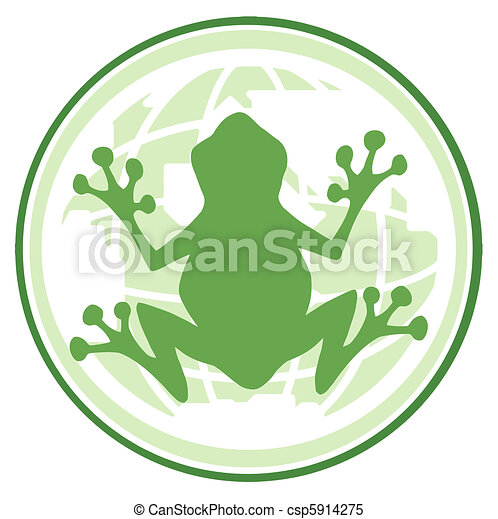Frog In Earth Banner  - csp5914275