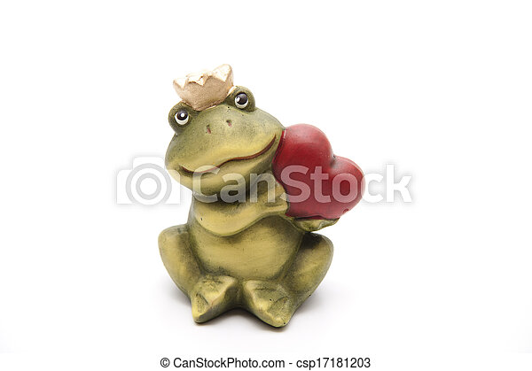 Frog king with heart - csp17181203