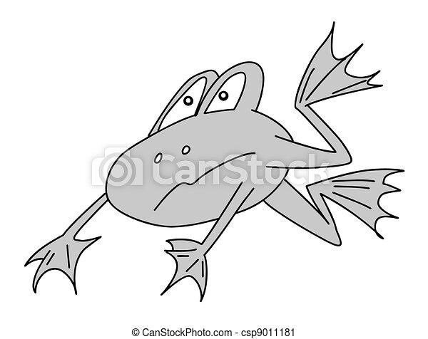 frog on white background, vector illustration - csp9011181