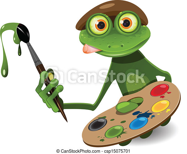 frog painter - csp15075701