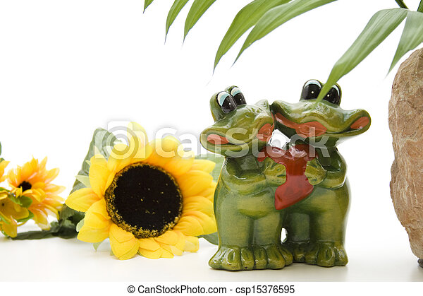 Frog pair with heart - csp15376595