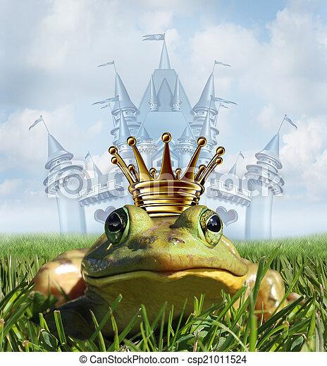 Frog Prince Castle concept - csp21011524