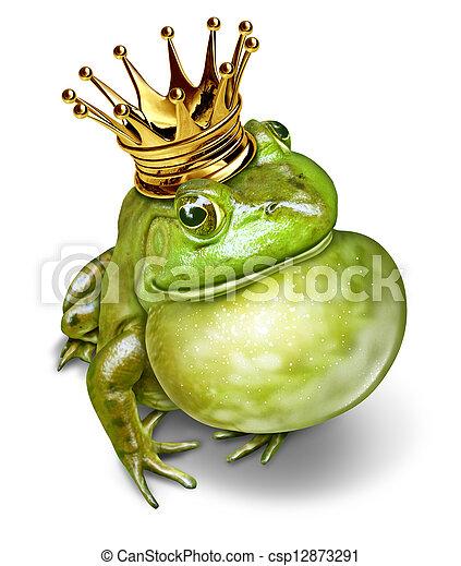 Frog Prince Communication - csp12873291