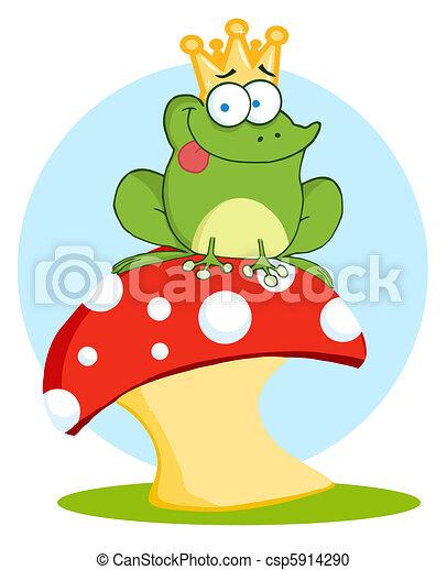 Frog Prince On A Toadstool - csp5914290