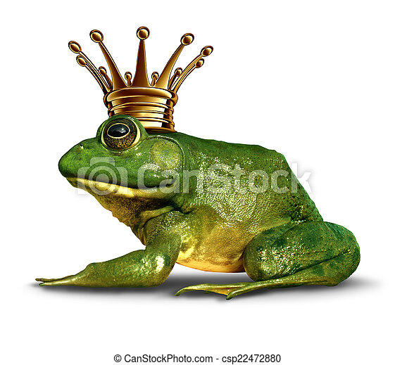 Frog Prince Side View - csp22472880