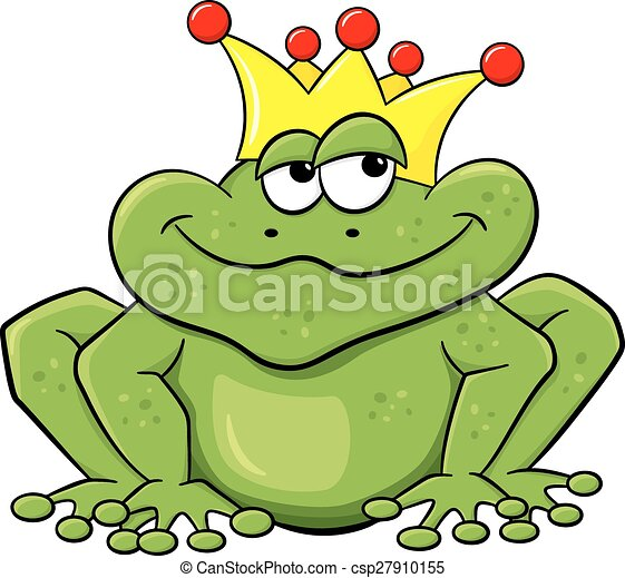 frog prince waiting to be kissed - csp27910155