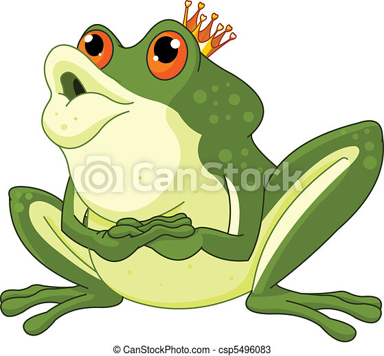 Frog Prince waiting to be kissed - csp5496083