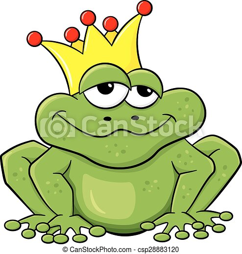 frog prince waiting to be kissed - csp28883120