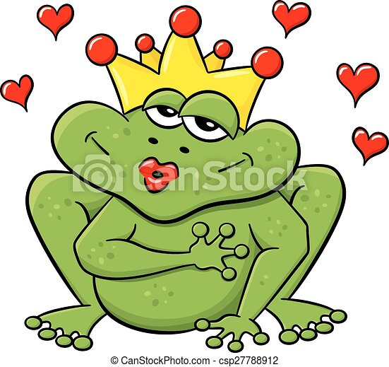 frog prince waiting to be kissed - csp27788912