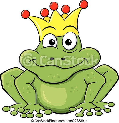 frog prince waiting to be kissed - csp27788914