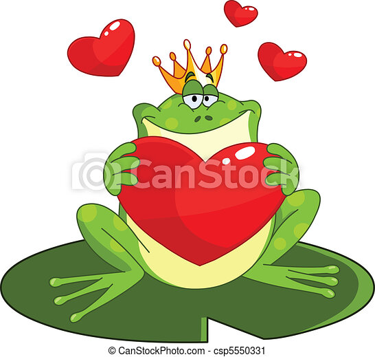 Frog prince with heart - csp5550331