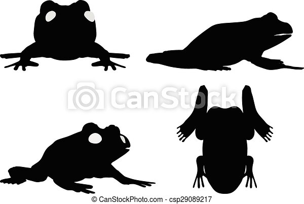 vector image frog silhouette isolated on white background rh canstockphoto com