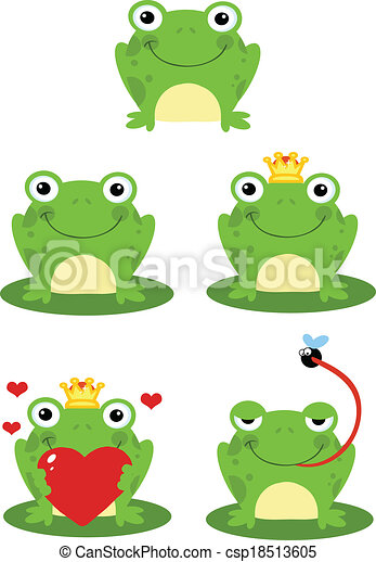 Frog Sitting On A Leaf Collection - csp18513605