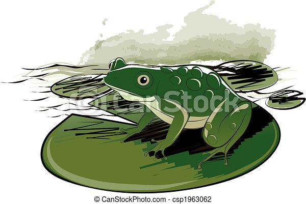 Frog Sitting On Leaf - csp1963062