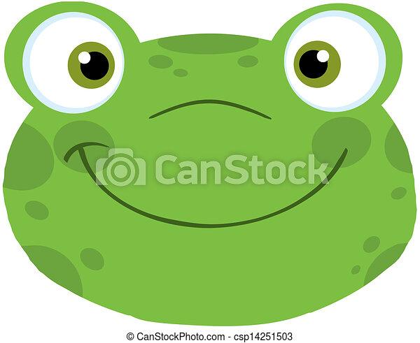 Frog Smiling Head - csp14251503