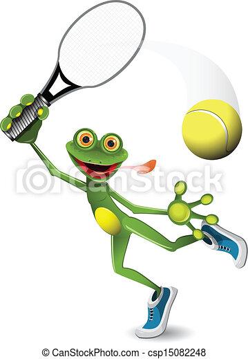 frog tennis player - csp15082248