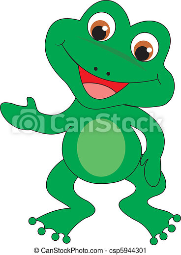 frog vector frog isolated ob white background vector illustration rh canstockphoto ca Vector Drawing Trible Vector Graphic