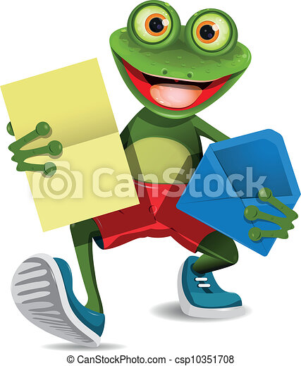 Frog with a letter - csp10351708