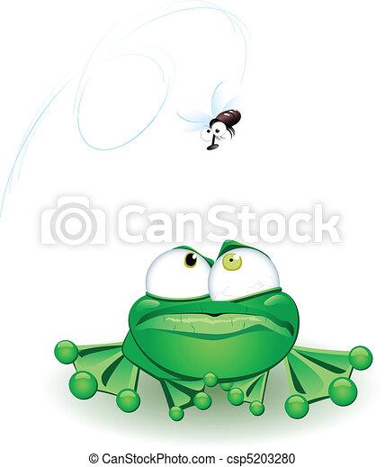Frog with flie - csp5203280