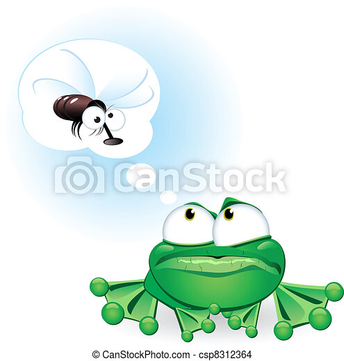 Frog with fly - csp8312364