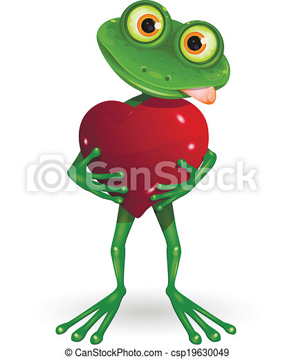 Frog with heart - csp19630049