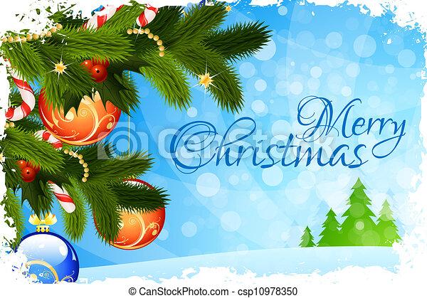 frohe weihnacht, karte, gruß - csp10978350