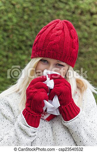 froid, a, femme - csp23540532
