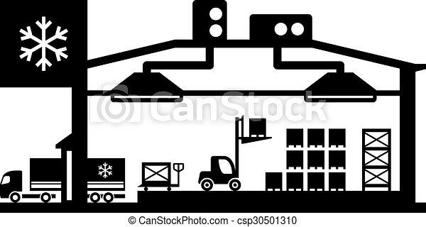 froid, industriel, scène, magasin - csp30501310