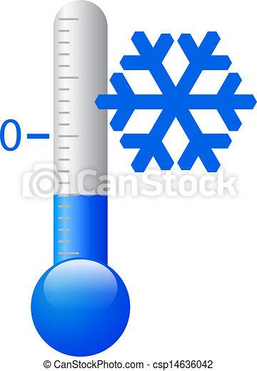froid, vecteur, symbole, glace - csp14636042