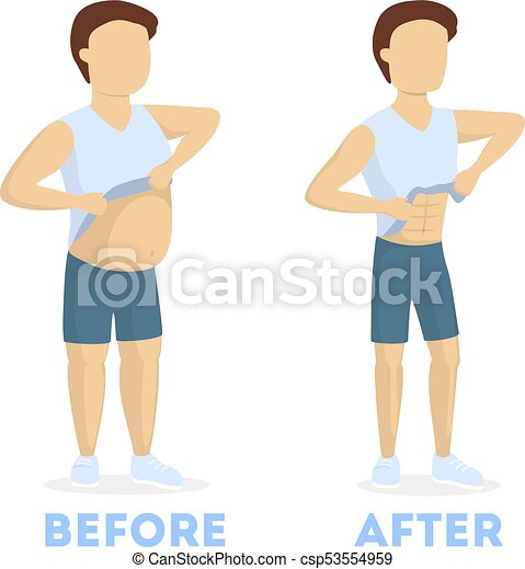 From fat to fit. - csp53554959
