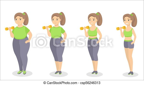 From fat to fit. - csp56246313