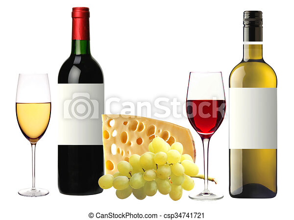 fromage raisin isol verre savoureux bouteille vin clip art rechercher illustration. Black Bedroom Furniture Sets. Home Design Ideas