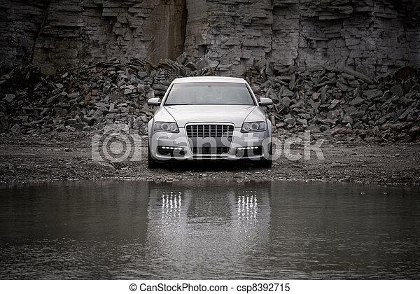 front, auto, luxus, ansicht - csp8392715
