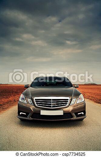 front, breit, ansicht, auto - csp7734525
