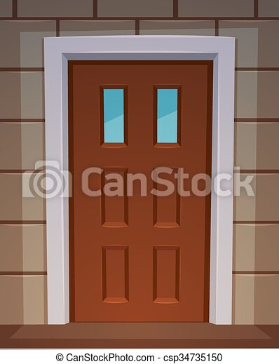Front Door Cartoon Illustration Of The Classic Front Door