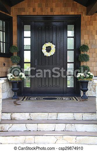 Front door - csp29874910