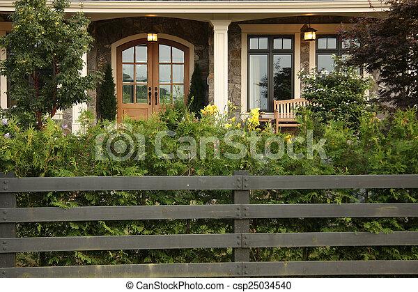 Front door. - csp25034540
