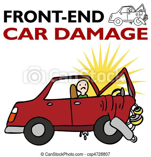 Front End Car Damage - csp4728807
