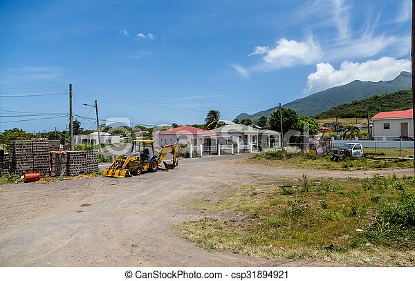 Front End Loader by Shacks on St Kitts - csp31894921