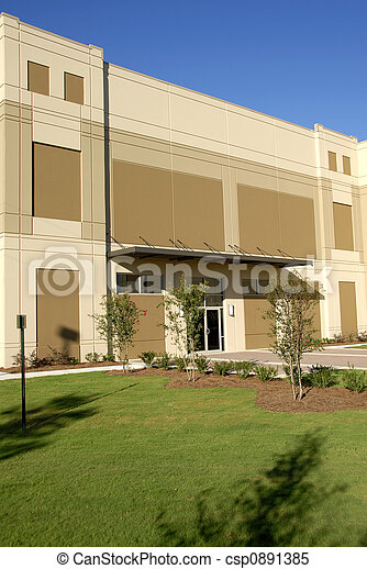 Front Facade of New Commercial Building - csp0891385