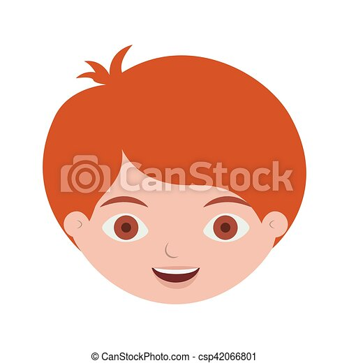 Front Face Redhead Kid Hairstyle
