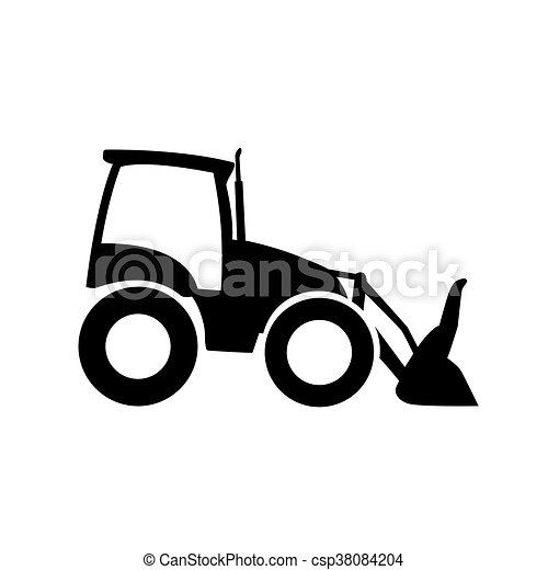 front loader icon pictogram excavator vector silhouette vector rh canstockphoto co nz Front Loader Truck Clip Art Cat Front End Loader