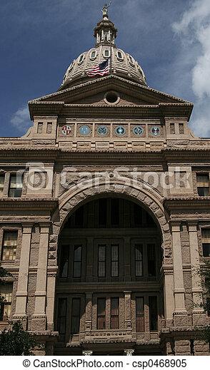 Front Of Capitol Texas - csp0468905