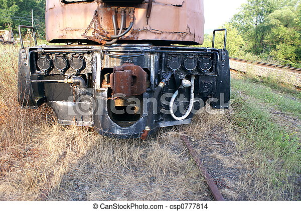 Front Of Vintage Train