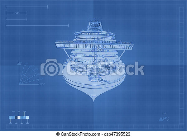 Front view cruise ship blueprint front view cruise ship blueprint csp47395523 malvernweather Gallery