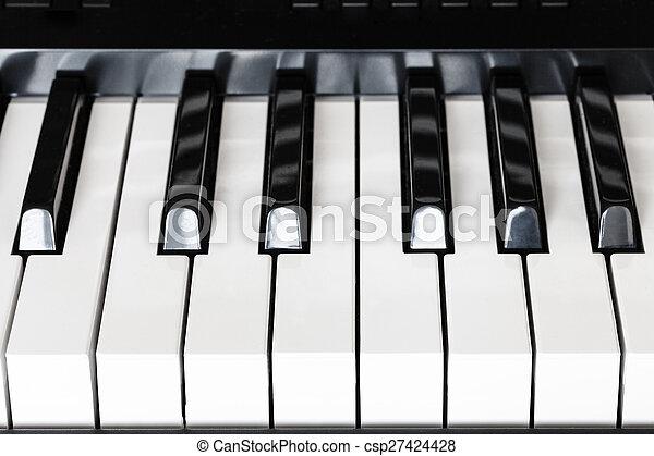 front view keys of digital piano - csp27424428