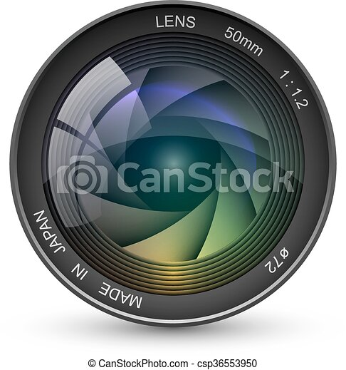 front view of photo camera lens vector illustration isolated rh canstockphoto co uk camera lens clipart png camera lens clipart png